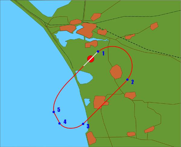 Схема полета по кругу с ИКВП